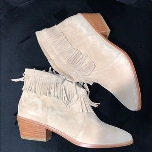 Joie Suede Ankle Pull On Boots